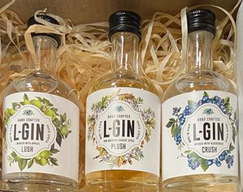 L-Gin Littles gin bottles